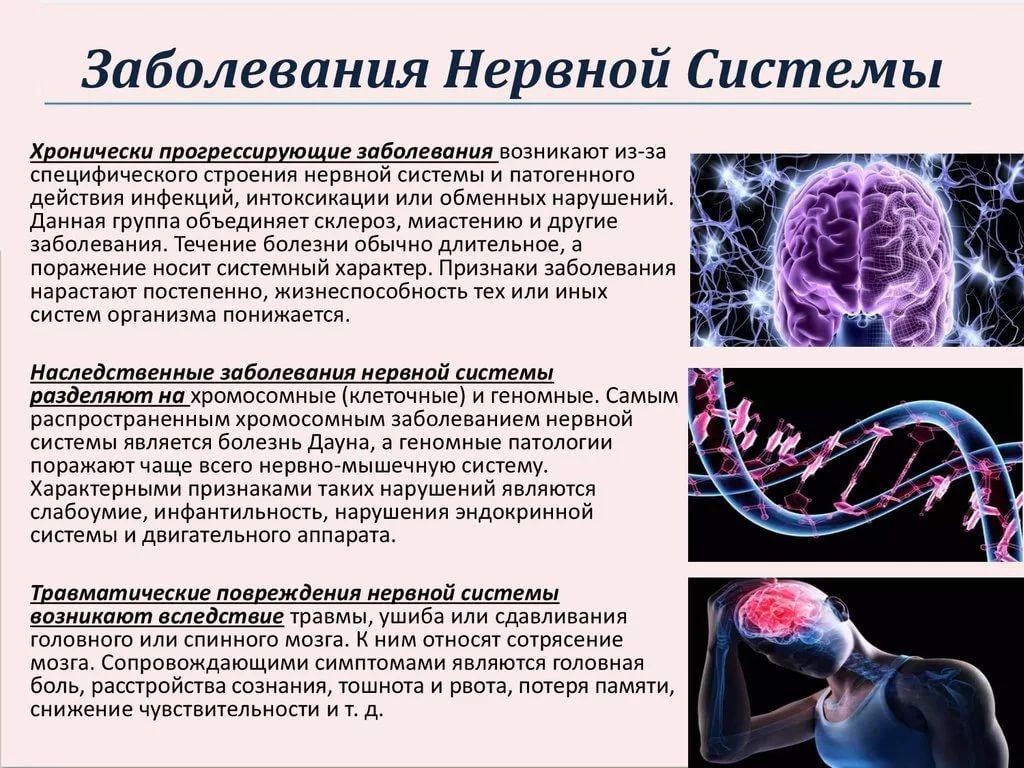 Болезнь нервной системы симптомы